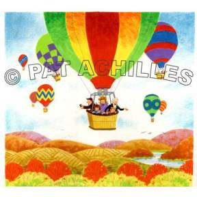 "Balloon Ride, from ""Let's Visit New Hope,"" The New Hope Historical Society"